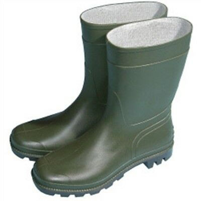 Town & Country Essentials Half Length Wellington Boots - Green, Uk Size 6 -
