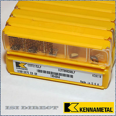 CCMT 21.52 2152 LF KC9125 KENNAMETAL ** 10 INSERTS *** FACTORY PACK ***