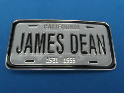 New Old Stock Quality James Dean Metal Belt Buckle Made In Usa Silver #3