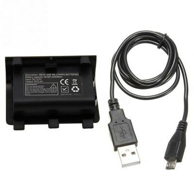 Rechargeable 2400mAh Ni-MH Battery+USB Charging Cable 5V For XBOX ONE Controller