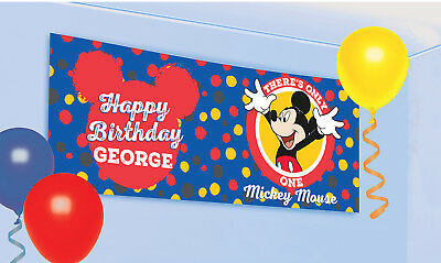 mickey mouse happy birthday banner free shipping usa 10 00