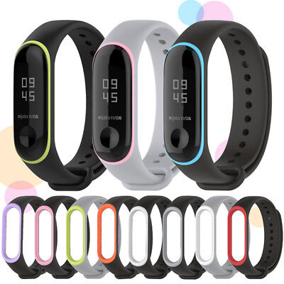 For Xiaomi Mi Band 3 Replacement Silicone Sport Wrist Watch Bands Bracelet Strap