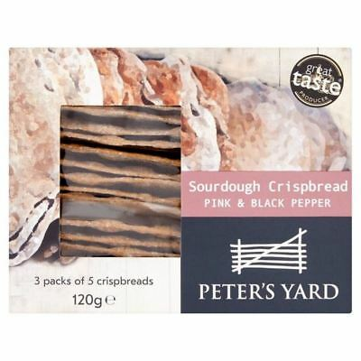 6x Peter's Yard Pink & Black Peppercorn Sourdough Crispbread 120g