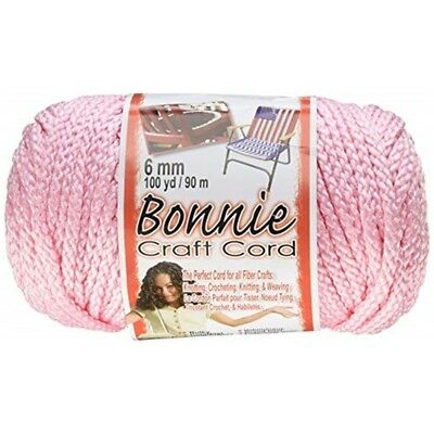 Pepperell Polyolefin Fiber Bonnie Macrame Craft Cord 6 Mmx 100 Yard-pink -