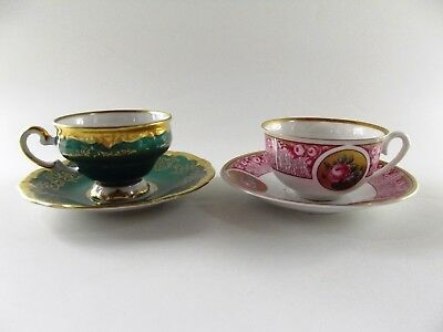Two Weimar Coffee Cups & Saucers Ref 700/1