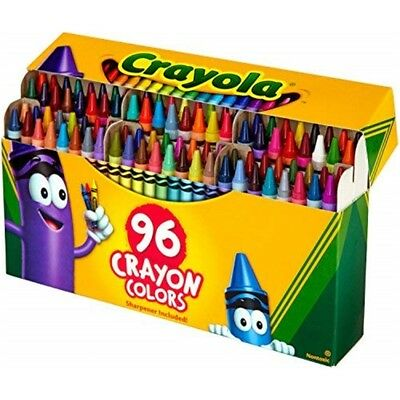 Crayola Classic Color Crayons In Flip-top Pack With Sharpener, 96 Colors -