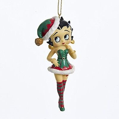 Betty Boop in Elf Outfit Christmas Tree Ornament Holiday Decoration BB2172 New
