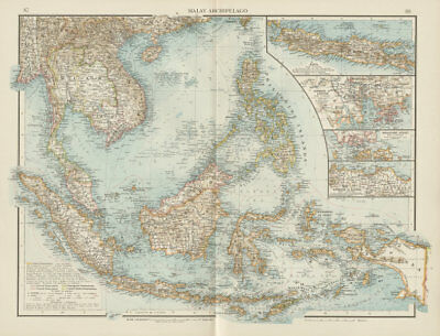 Malay Archipelago. Dutch East Indies Philippines Indochina Java. TIMES 1900 map