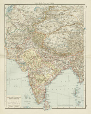 South & Central Asia. British India. Tibet China Russia. THE TIMES 1900 map