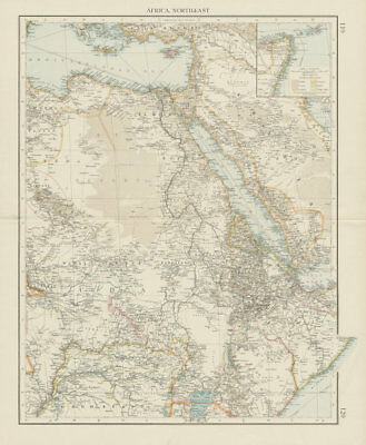 Colonial Africa North-East. Hejaz Kenya Abyssinia Colonial. THE TIMES 1900 map