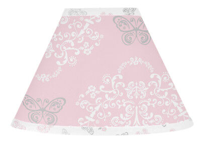 Lamp Shade For Sweet Jojo Designs Pink Gray Butterfly Damask Baby Girl Bedding