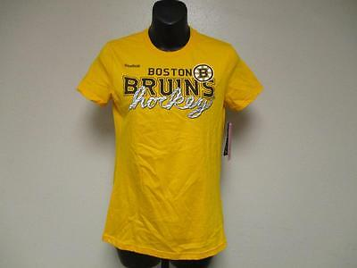 New- Boston Bruins Girls L Large (14) Reebok Yellow Shirt