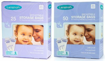 Lansinoh MILK STORAGE BAGS Baby Breast Feeding/Travel Accessory Freezing BN