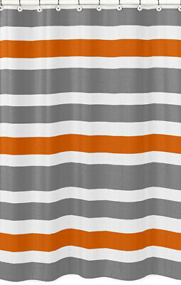 CafePress Gray With A Orange Border Shower Curtain 1714140817