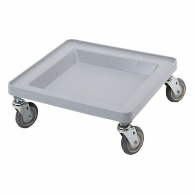 Cambro CDR2020151 Camdollies Economy Soft Gray Dolly for Dish Racks
