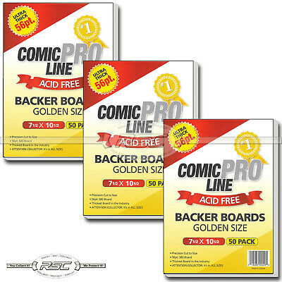 "150 - Comic Pro Line Golden Age 56pt Premium Backer Boards - 7-1/2"" x 10-1/2"""