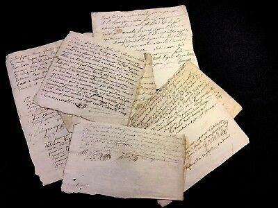 LOT OF SEVEN DOCUMENTS  1700s
