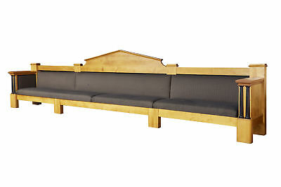 Large Empire Influenced Birch Sofa Of Monumental Proportions