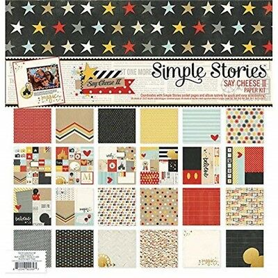 Say Chees2 Papr Pack 12x12 - Simple Stories Cheese Ii Paper Inch Doublesided Pkg