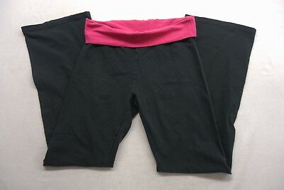 b5d732761e1f0 New American Eagle Womens  2680 Aerie Black   Pink Casual Cotton Pants Size  XS