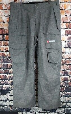 aac27243a7 Sims Snowboards Mens Xl Pants Snow Board Boarding Tweed Pinstripes Graphic  Cargo