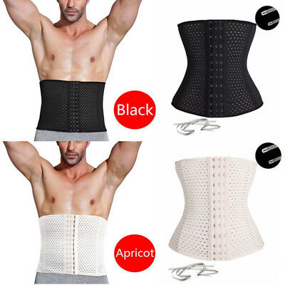 b23a55e5c7 Men Waist Trainer Cincher Tummy Girdle Belt Slimming Body Shaper Beer Belly  Wrap