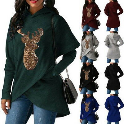 Christmas Women's Sweater Knit Long Sleeve Xmas Knitted Pullover Top