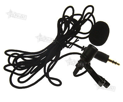 Mini Mic 3 5mm Omnidirectional Tie Clip On Lapel Lavalier Microphone