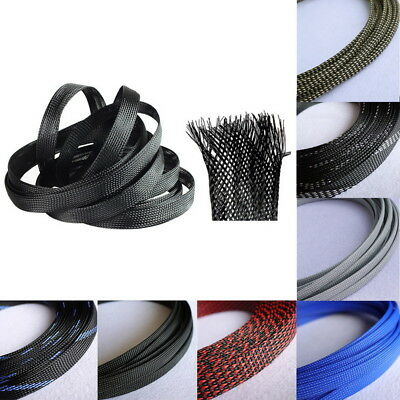 1/4 inch Flexo PET Expandable Braided Sleeving Tech braided cable sleeve