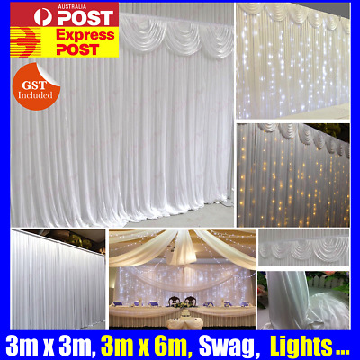 Wedding Party Stage Backdrop Swag Drape Sheer Curtain Photograph Background