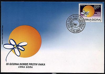 504 Montenegro 2002  Struggle Against Cancer FDC