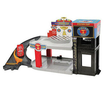 Mattel Cars Piston Cup Racing Garage Playset Toy For Ages 4+