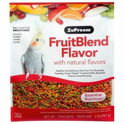 Zupreem Fruit Cockatiel 2lb Pellet Complete Bird Food