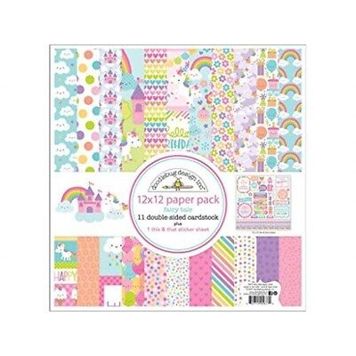 Doodlebug Doo5677 Ft Paper Pack, 12 x 12 - Fairy Tales Pack