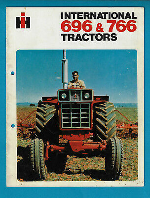 Ih International 696 & 766 Tractors 8 Page Brochure May 1972