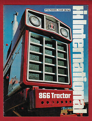 Ih International 866 Tractor 8 Page Brochure July 1974
