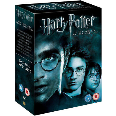 Harry Potter Complete 1-8 The Sealed and Box Set DVD Region 2 UKDVD Free Postage