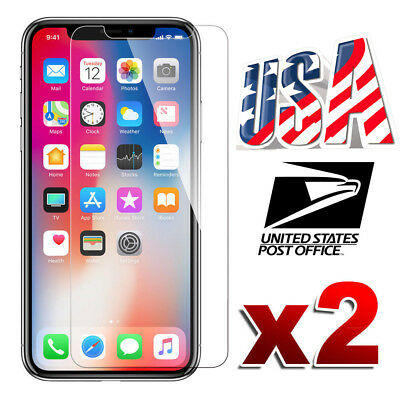 2X Premium Real Screen Protector Tempered Glass Film For Apple iPhone XR XS Max