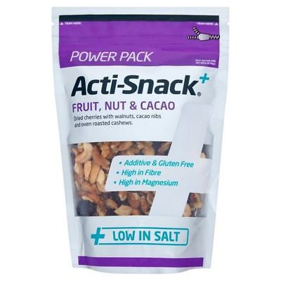 4x Acti Snack Fruit Nut & Cacao 220g