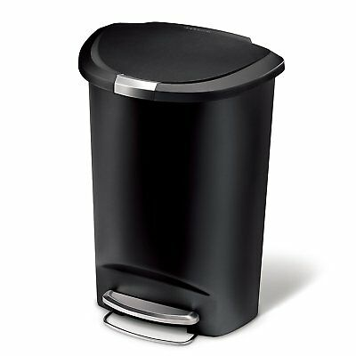 simplehuman 50 Liter / 13 Gallon Semi-Round Kitchen Step Trash Garbage Can NEW