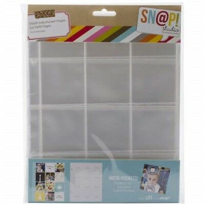 Simple Stories Snatp! Insta Pocket Pages For 6 By 8-inch Binders With 2 By -