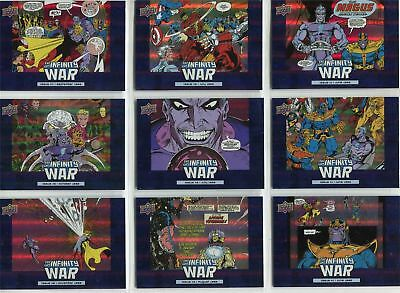Avengers Infinity War Complete Infinity War Chase Card Set IW1-10