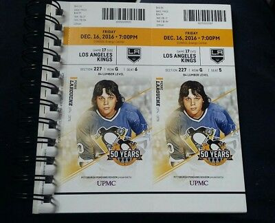 1 Pittsburgh Penguins Sth Ticket Stub 12/16/2016 Vs Los Angeles Kings