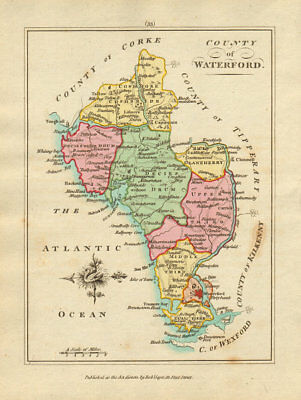 County of Waterford, Munster. Antique copperplate map by Scalé / Sayer 1788