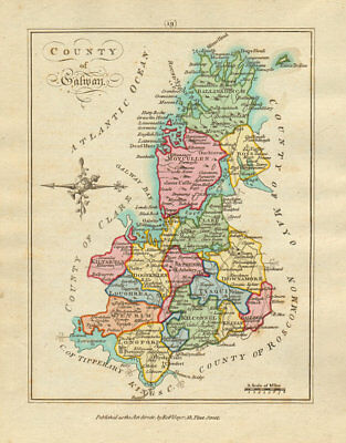 County of Galway, Connaught. Antique copperplate map by Scalé / Sayer 1788