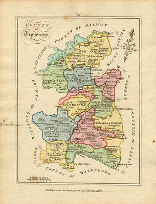 County of Tipperary, Munster. Antique copperplate map by Scalé / Sayer 1788