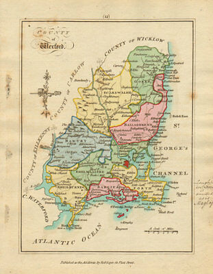 County of Wexford, Leinster. Antique copperplate map by Scalé / Sayer 1788