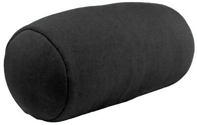 "Micro Mini Microbead Cushie Roll Pillow 3.5"" x 8.5"" - Black"