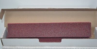 """5 Boxes of 25ea Carbo Red 40 E Grit 2-3/4"""" x 16-1/2"""" Grip-On File Sheets 21343"""