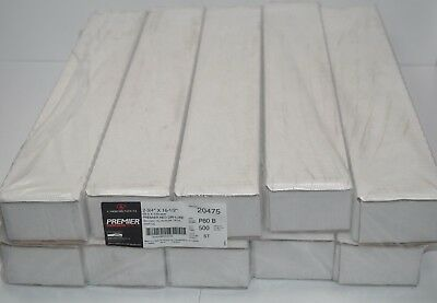 """1 Case - 500 Sheets Carbo Red P80 B Grit 2-3/4"""" x 16-1/2"""" Grip-On File 20475"""